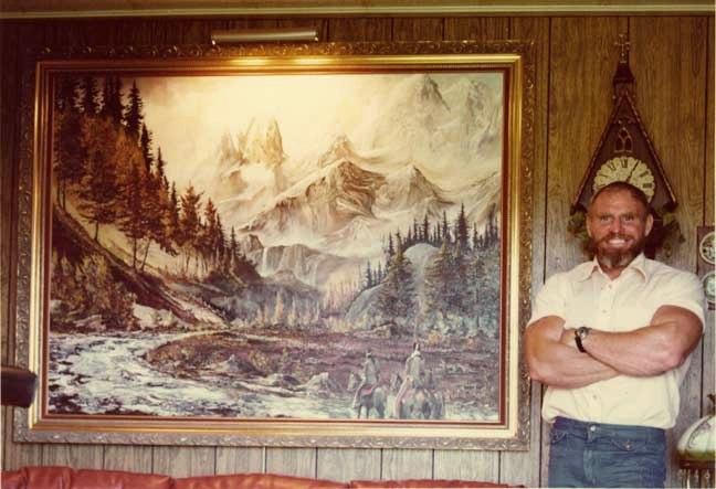 Chuck Sipes se zajímal i o malířství.