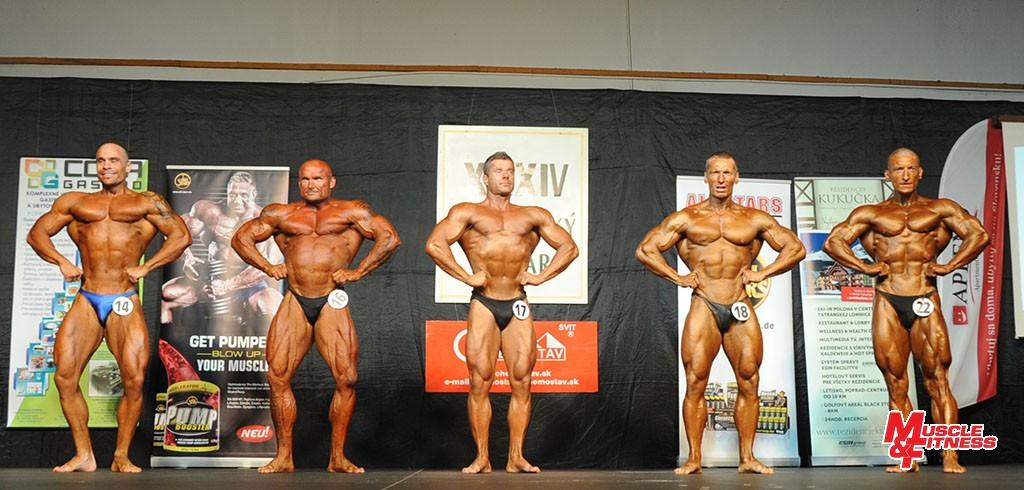Finalisti do 85 kg (zlava): 4. Romanec, 3. Cada, 5. Rapoš, 2. Škadra, 1. Soták