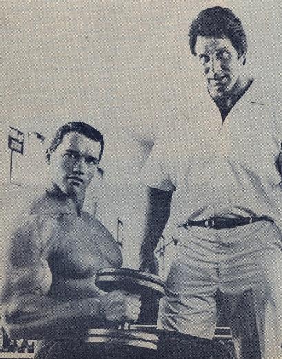 Arnold a jeho vzor Reg Park.