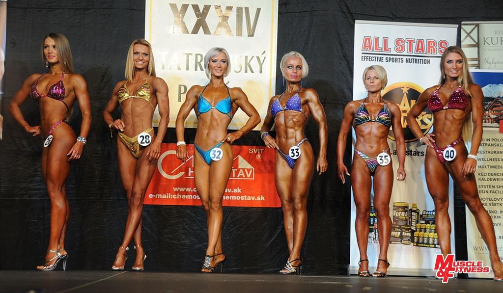 Bodyfitness: 3. Tichá, 2. Štubnová, 6. Paracková, 5. Petrovská, 4. Dobiašová, 1. Ondrejovicová.