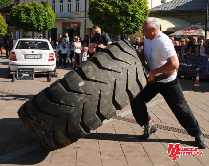 Pavol Jambor (prevracanie pneumatiky)