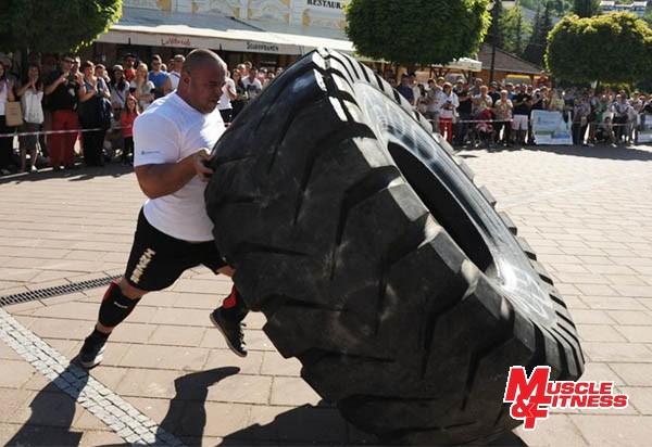 Maroš Kubovič (prevracanie pneumatiky)