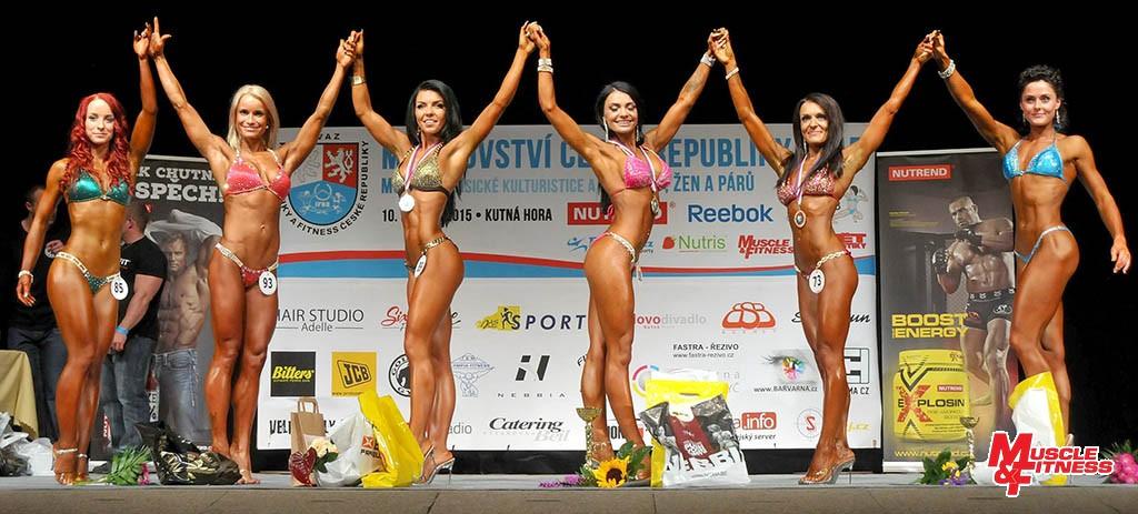 Bikini fitness do 164 cm: 6. Černá, 4. Milfaitová, 2. Weissová, 1. Arkhiyereyeva, 3. Bártová, 5. Cihlářová.
