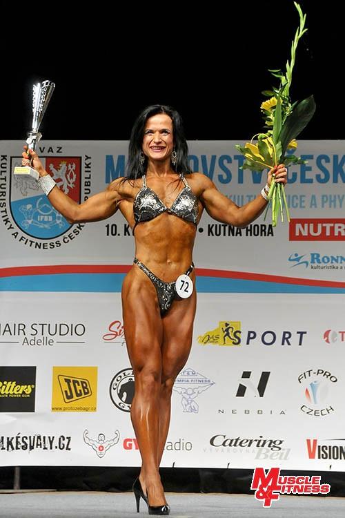 Absolutní vítězka bodyfitness Lucie Jakešová.