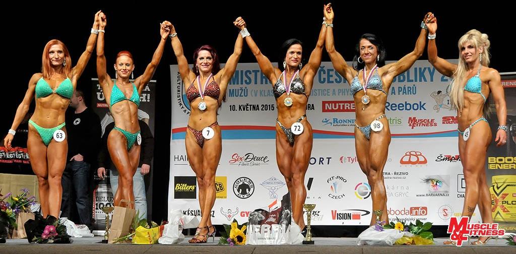 Bodyfitness do 164 cm: 6. Skřičková, 4. Pranspergerová, 2. Zubačová, 1. Jakešová, 3. Koudelková, 5. Sadílková.