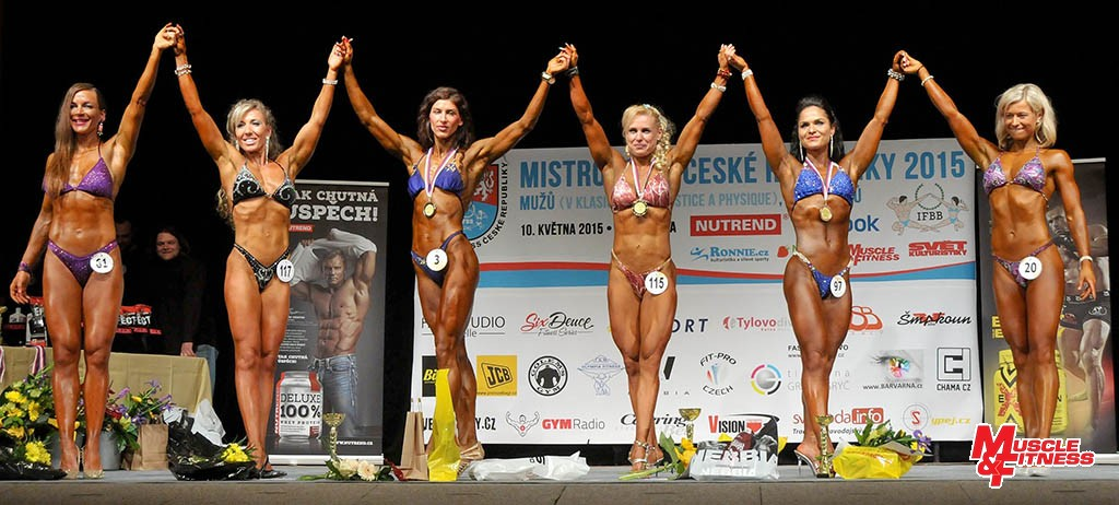 Bodyfitness nad 164 cm: 6. Hrušovská, 4. Opatrná, 2. Vaculíková, 1. Koumarová, 3. Bolomová, 5. Šnajdrová.