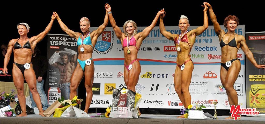 Physique žen (zleva): 4. Šafránová, 2. Lovasová, 1. Ferenčuková, 3. Renzová, 5. Verbová.