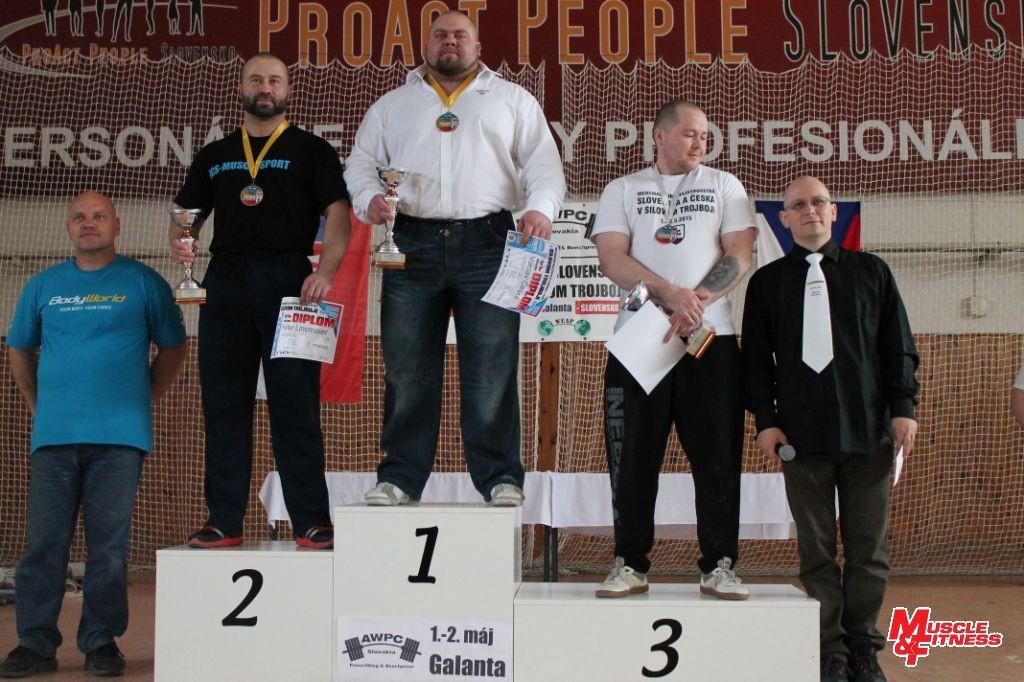 Medailisti v absolútnom poradí open zápolenia divízie equip.