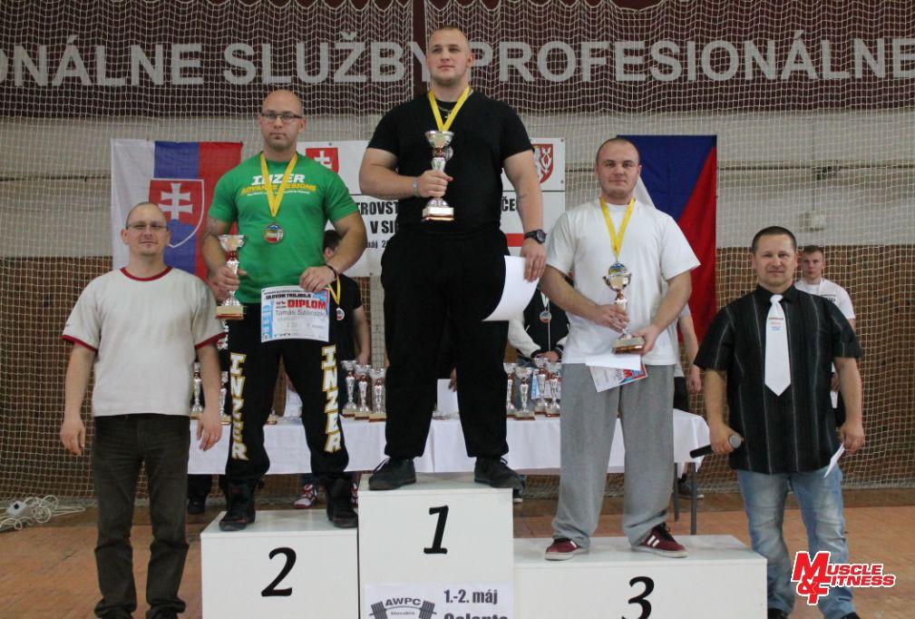 Stupne víťazov v absolútnom poradí raw divízie – dorastenci a juniori.