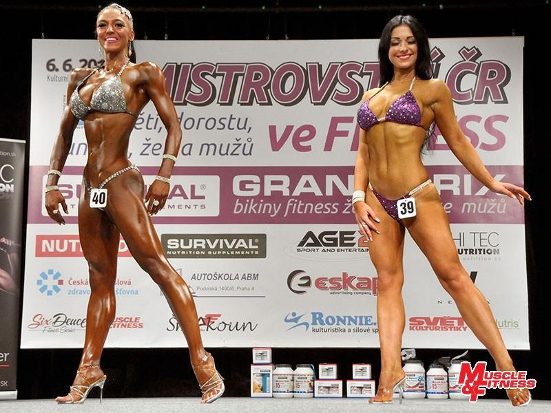 Bikini fitness – souboj o absolutní prvenství: Wertheimová, Fílová. Zvítězila Veronika Wertheimová.