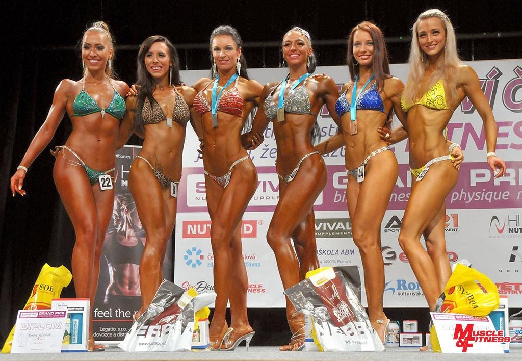 Bikini fitness nad 164 cm: 6. Votroubková, 8. Vlčková, 2. Tůmová, 1. Wertheimová, 3. Votavová, 5. Kšicová.