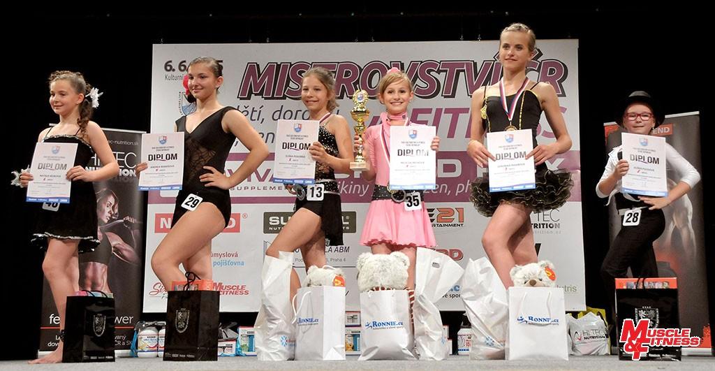 Fitness dívek – do 12 let: 6. Bílíková, 4. Remešová, 2. Pokorná, 1. Laurichová, 3. Pekařová, 5. Plicková.