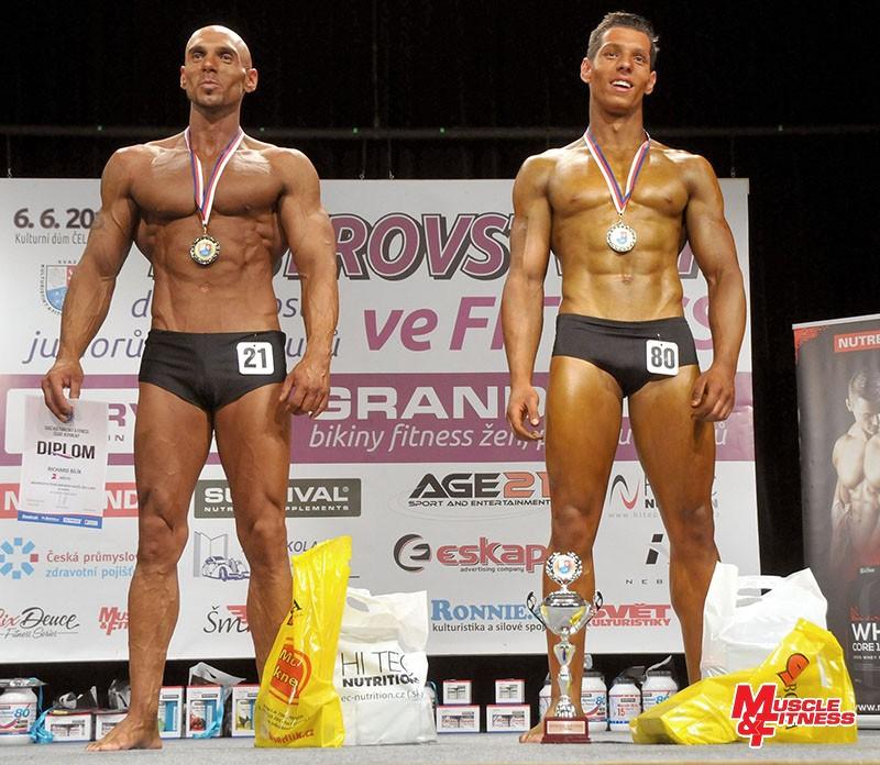 Fitness mužů: 2. Bílík, 1. Cina.