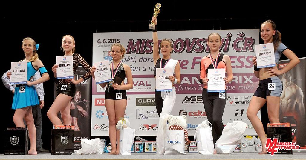 Fitness dívek – nad 12 let: 6. Bučková, 4. Knápková, 2. Kohoutová, 1. Dulovcová, 3. Vagundová, 5. Voldánová.