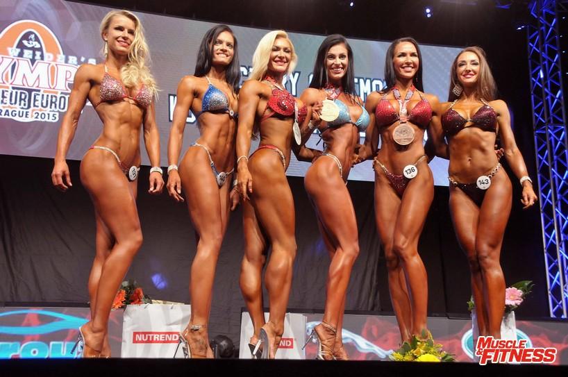 Bikini fitness nad 172 cm: 6. Koleszar, 4. Pohankova, 2. Putrova, 1. Storzerová, 3.   Ševeleva, 5. Serzante.