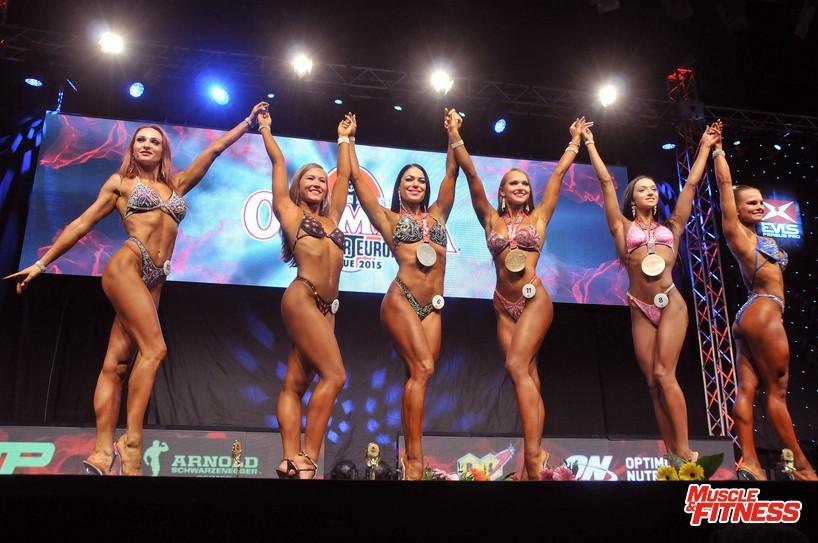 Fitness nad 163 cm: 6. Zvancuka, 4. Ágoston, 2. Orobec, 1. Belova, 3. Kožuchová, 5.   Ylitolonen.