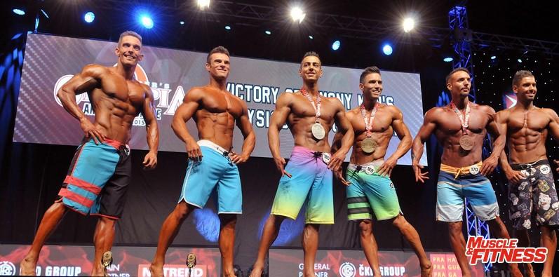 Physique mužů do 178 cm: 6. Ginzel, 4. Orvik, 2. Ahmad, 1. Montiel, 3. Angel, 5. Gál.