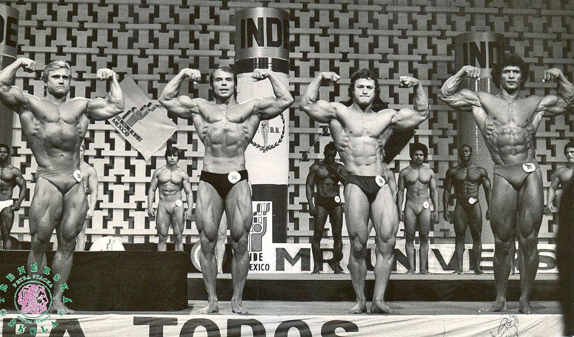 MS 1978 v Acapulcu. (Vlevo slavný Tom Platz, druhý zleva Stach.)
