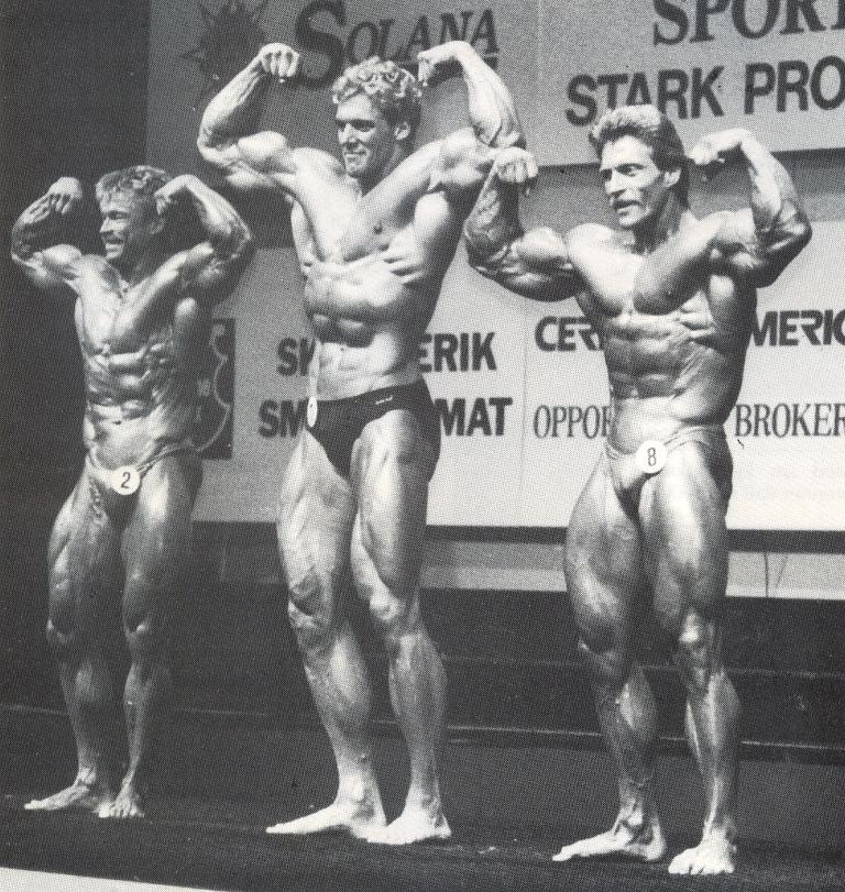 Peter Hensel (vpravo) v roce 1985 s Ralfem Möllerem (uprostŕed) a Ulfem Larssonem (vlevo).