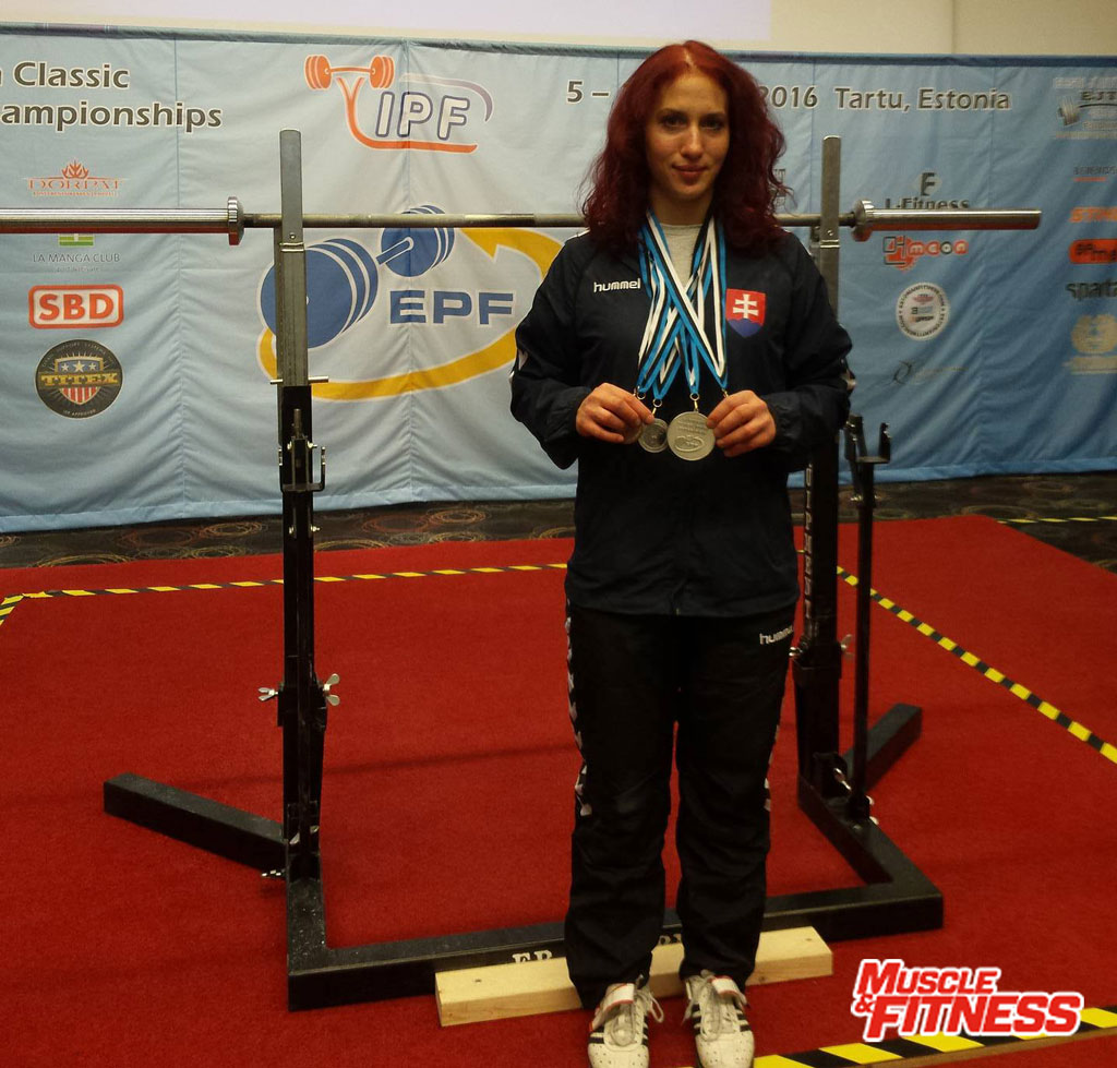 Ivana Horná s medailami