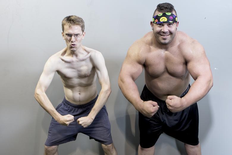 Ektomorf (vlevo) a endomorf.