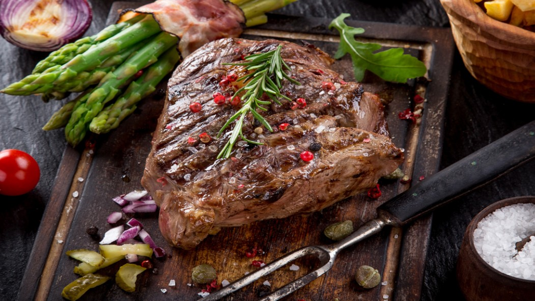 Recept Steak Spargla hotovy