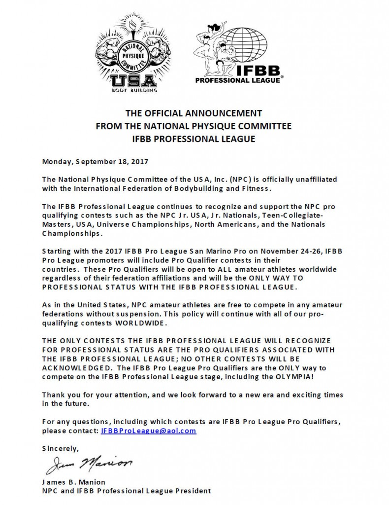 IFBB official announcement 790x1024