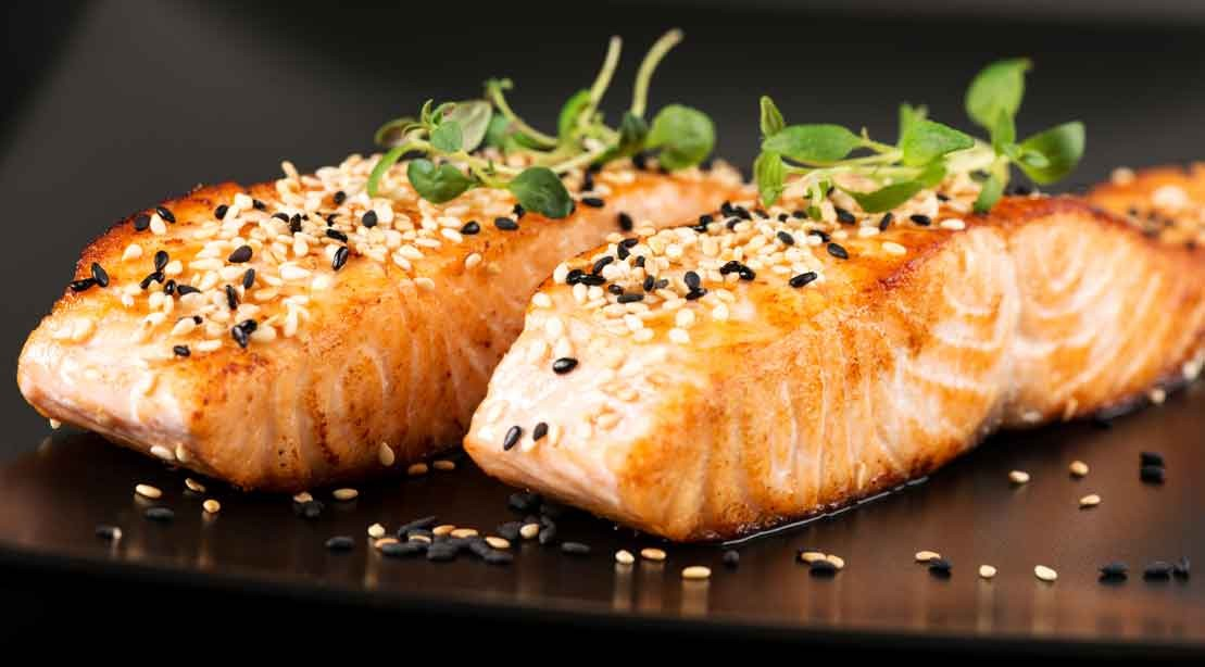 salmon sesame meal diet