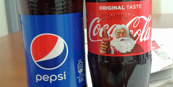 Pepsi coke santa