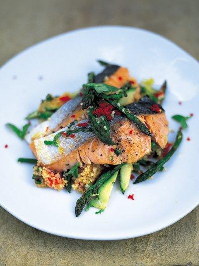 Salmon couscous Jamie Oliver