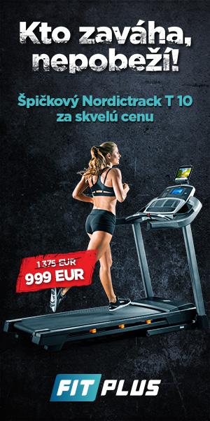 Špičkový bežecký pás NordicTrack T10 %%sep%% Kto zaváha, nepobeží. Nakupujte špičkovú kvalitu domácich fitness zariadení v sieti FIT PLUS.