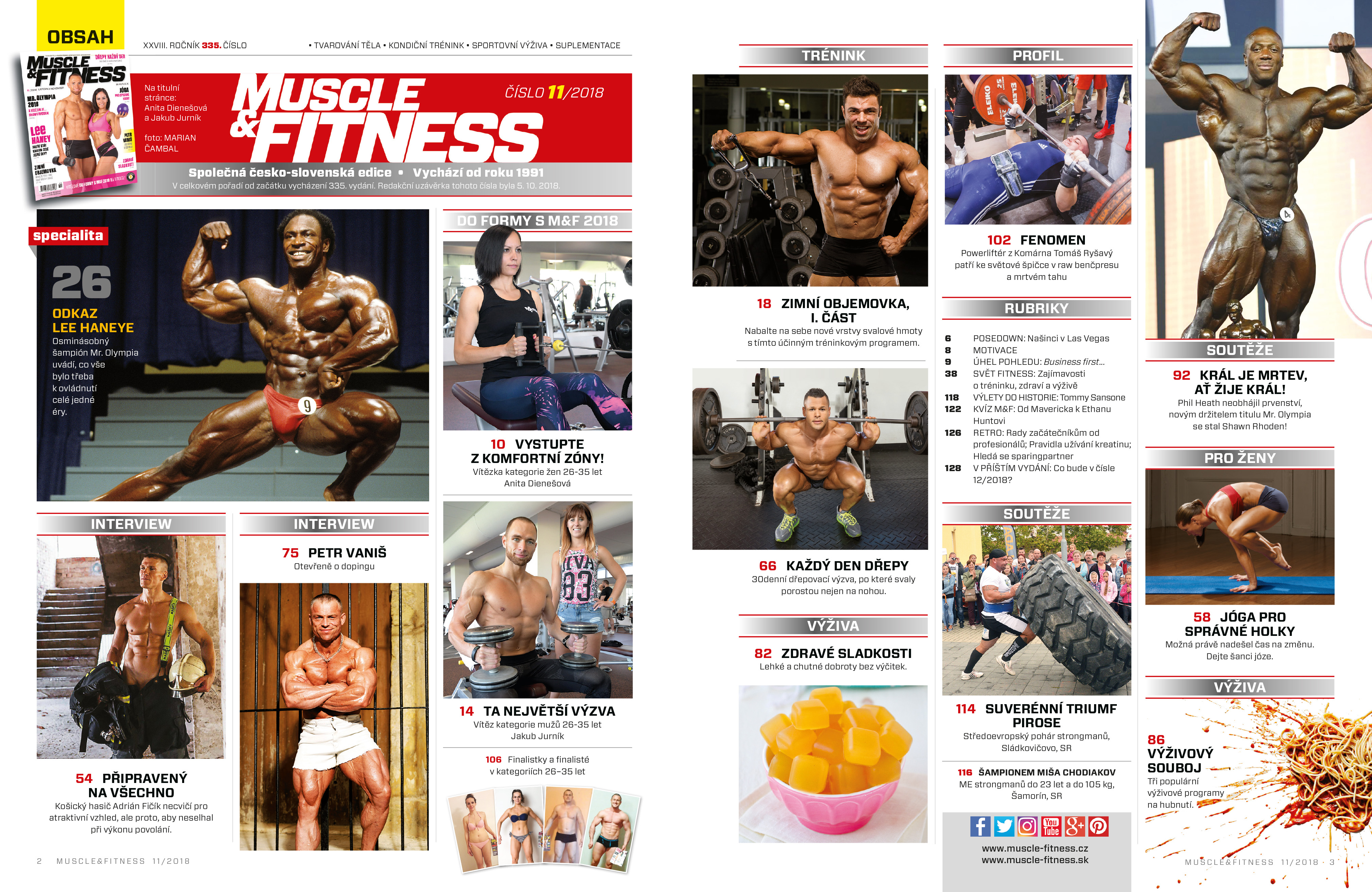Muscle and Fitness obsah 11/18