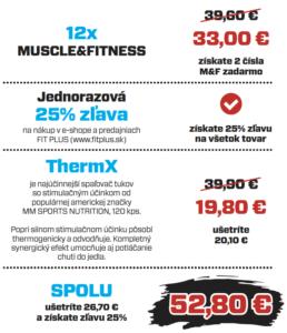 Mimoriadna akcia predplatne Muscle&Fitness