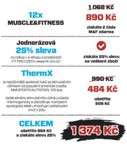 Mimoradna akce predplatne Muscle&Fitness