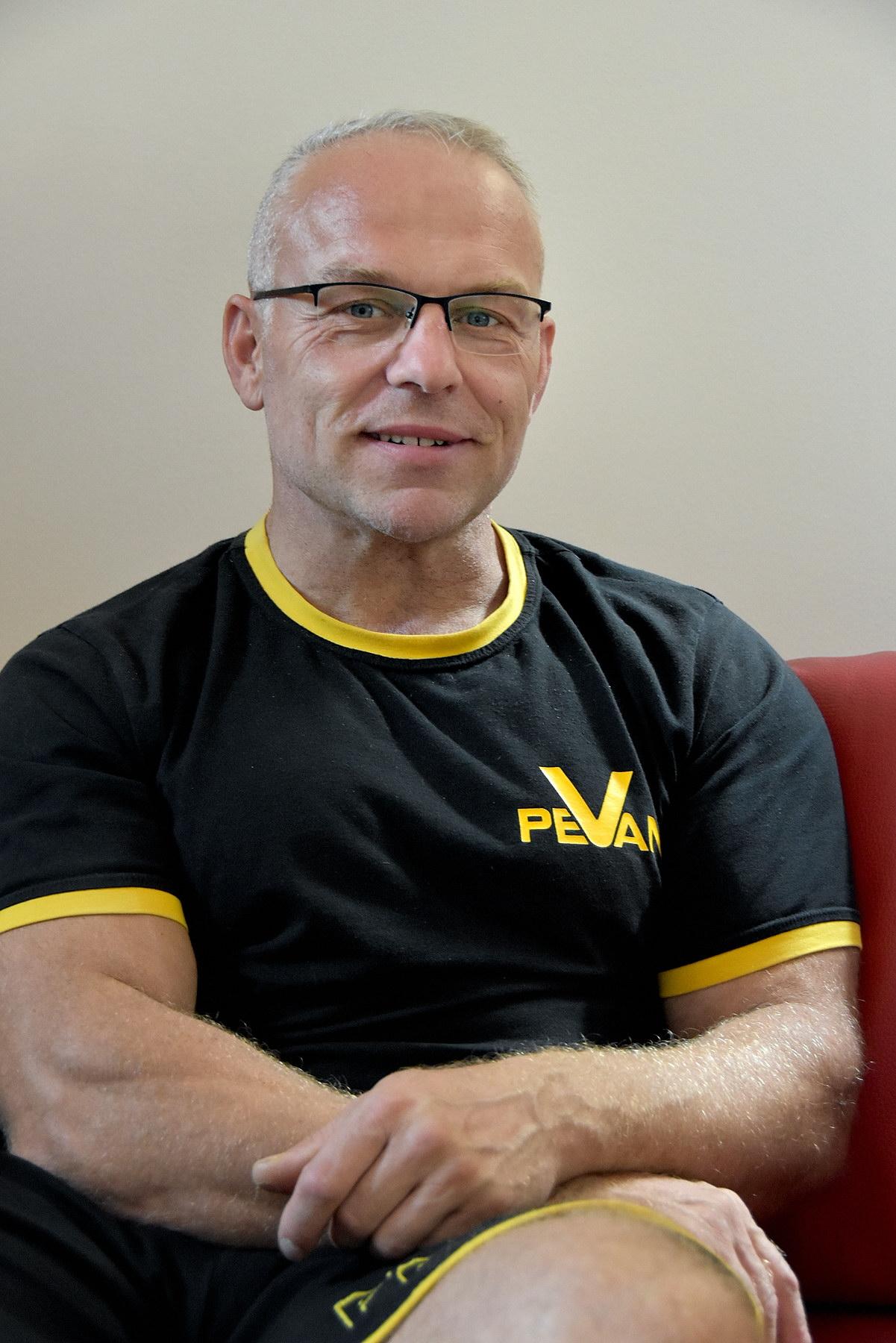 Pořadatel soutěže Pevan cup a bývalý profesionální kulturista Petr Vaniš.