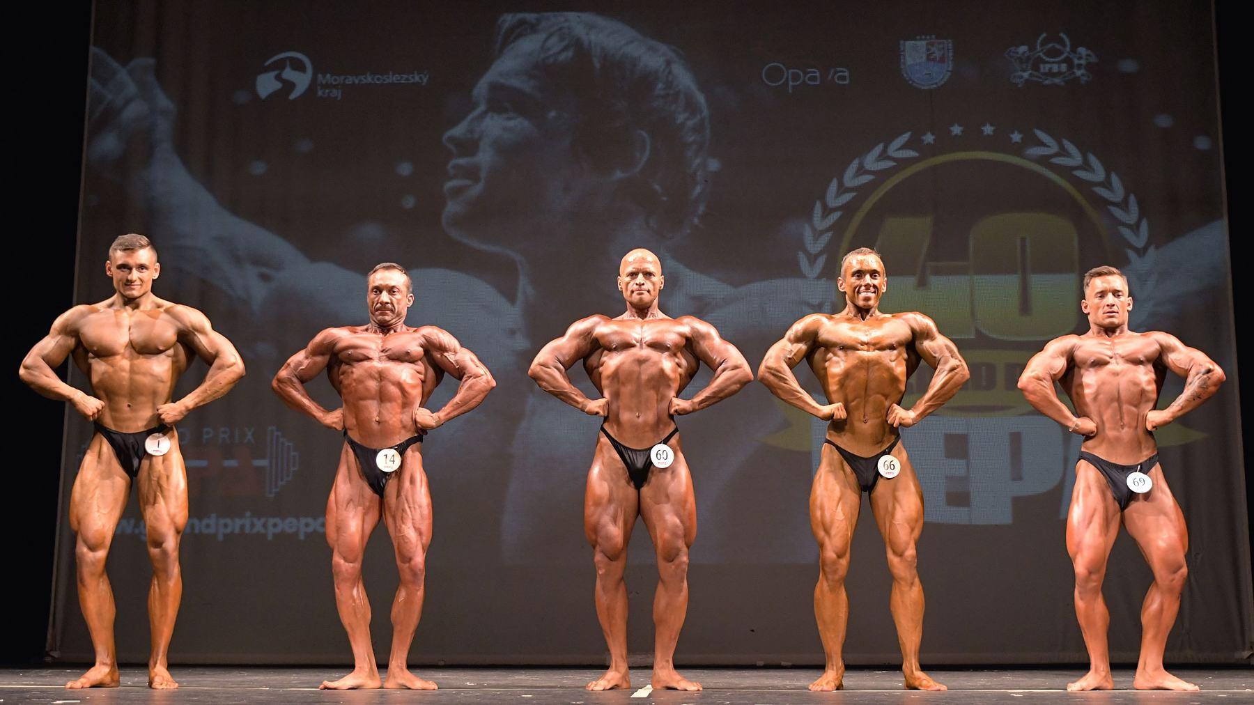 Kulturistika mužů do 80 kg Foto: Zdeněk Dryák