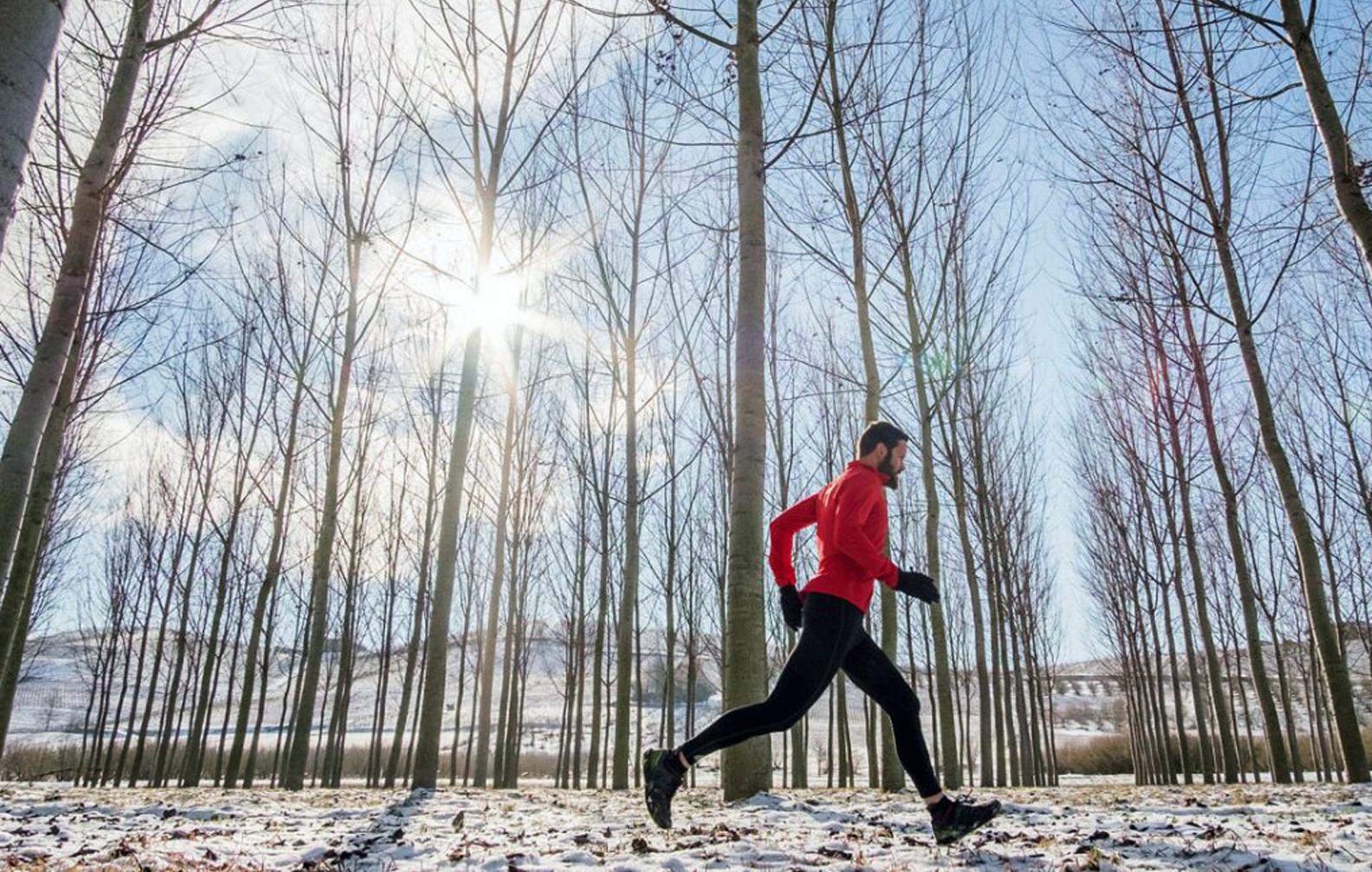 Beh v zime je fajný spôsob tréningu