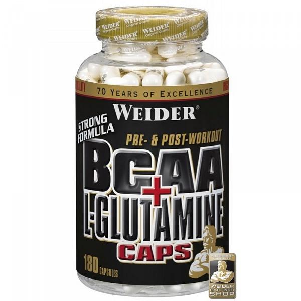 obrázok Weider BCAA + glutamine caps