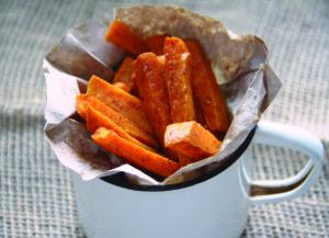 foto recept batatové hranolčeky zdravé jedlá mňam