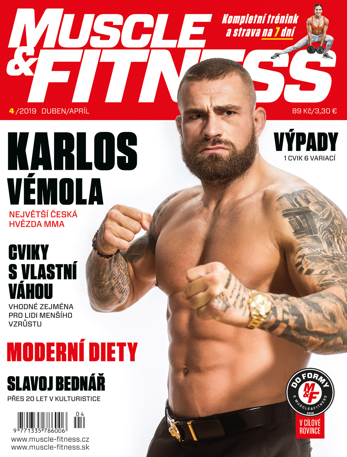 titulka MUSCLE&FITNESS 4/2019
