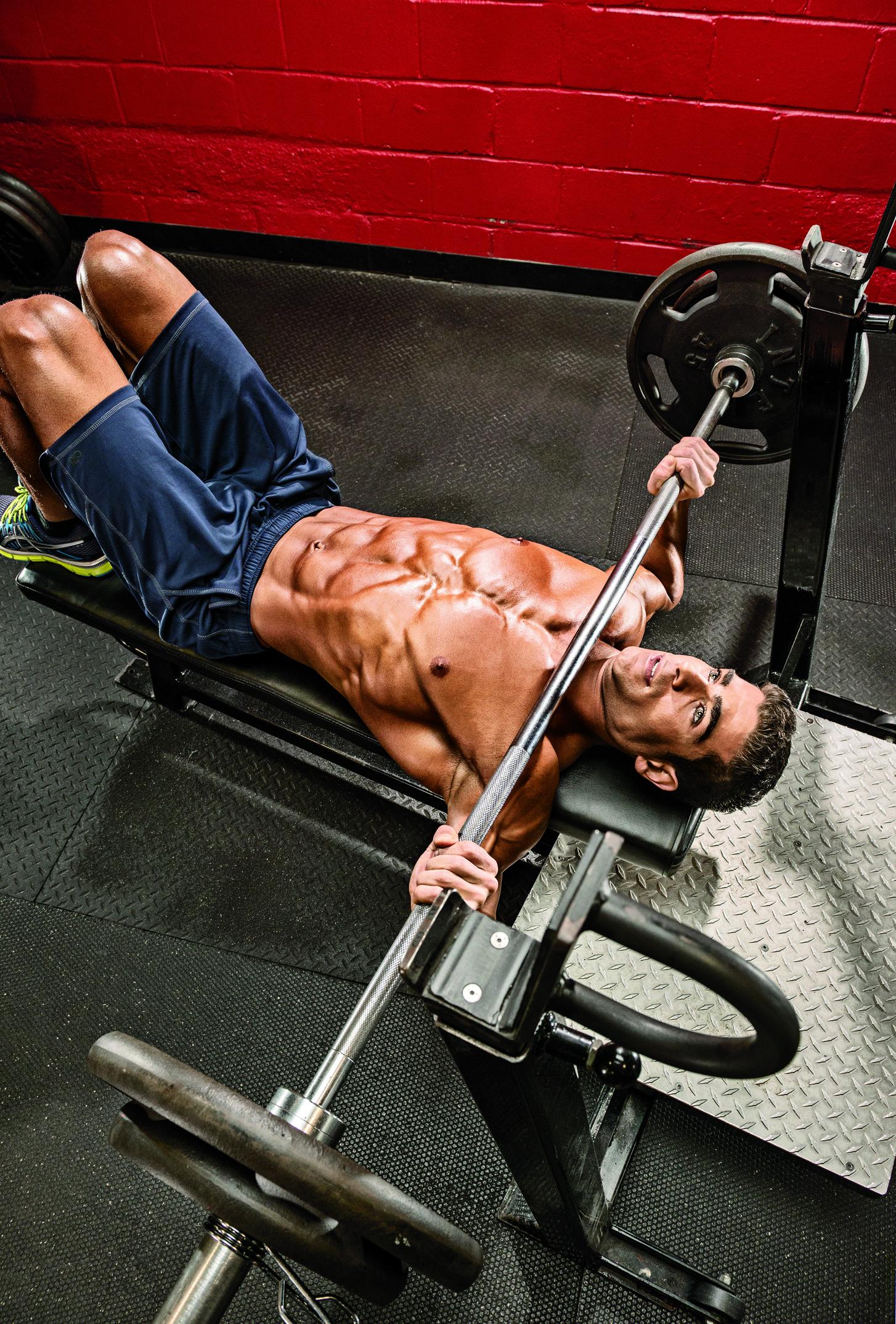 foto trénink na zvětšování hrudníku