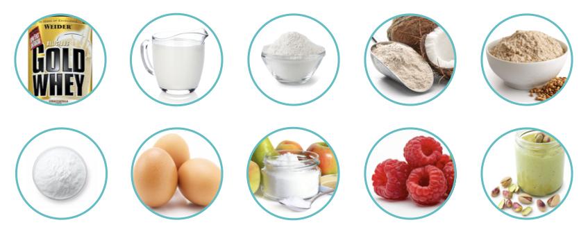 WEIDER spaldova proteinova babovka ingrediencie