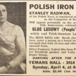 Plakát ohašující vystoupení polského siláka.