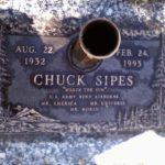 Místo posledního odpočinku Chucka Sipese