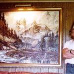 Sipes kormě jiného rád maloval. Námět hledal v kalifornských horách.