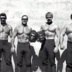Účinkování ve filmu Planeta opic: vpravo Merjanian, druhý zleva Koszewski